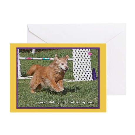 Golden Retriever Grass Birthday Greeting Card