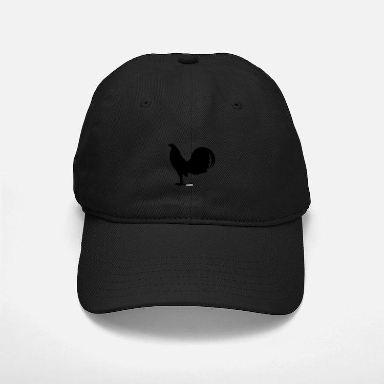 Gamecock Rooster Silhouette Baseball Baseball Cap