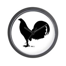 Gamecock Rooster Silhouette Wall Clock