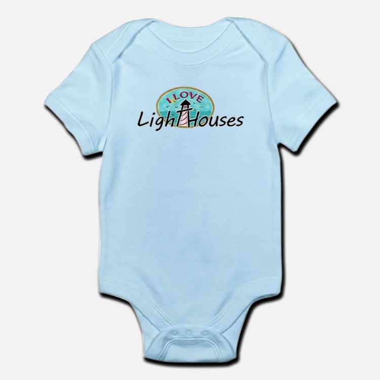 I Love Lighthouses Body Suit
