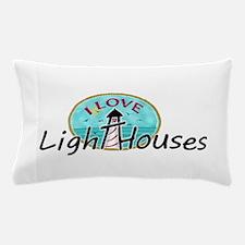 I Love Lighthouses Pillow Case