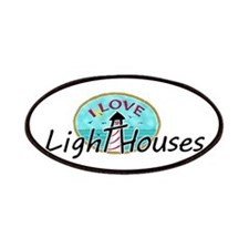 I Love Lighthouses Patches