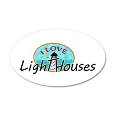 I Love Lighthouses Wall Decal