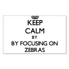 Keep calm by focusing on Zebras Decal