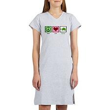 Peace Love Turtles Women's Nightshirt
