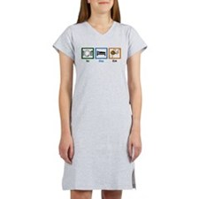 Eat Sleep Knit Women's Nightshirt