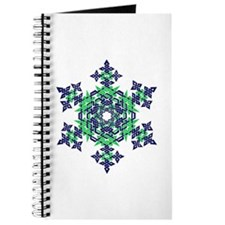 Blue and Green Snowflake Journal