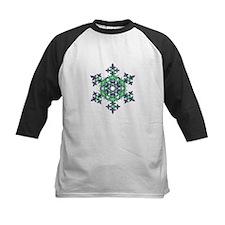 Blue and Green Snowflake Baseball Jersey