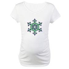 Blue and Green Snowflake Shirt