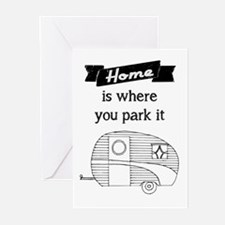 Vintage Trailer - Home is where you park it Greeti