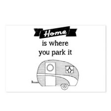 Vintage Trailer - Home is where you park it Postca