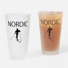 NORDIC SKI Drinking Glass