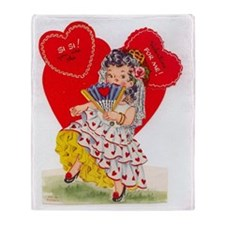 RetroValentine Senorita Throw Blanket