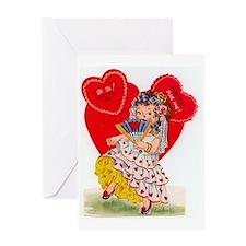 RetroValentine Senorita Greeting Card