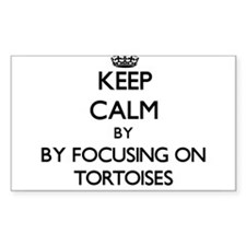 Keep calm by focusing on Tortoises Decal