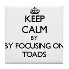 Keep calm by focusing on Toads Tile Coaster