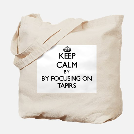 Keep calm by focusing on Tapirs Tote Bag