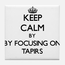 Keep calm by focusing on Tapirs Tile Coaster