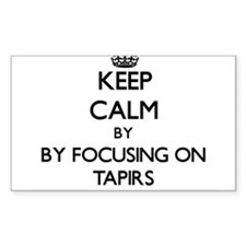 Keep calm by focusing on Tapirs Decal