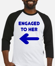 Engaged to her Baseball Jersey
