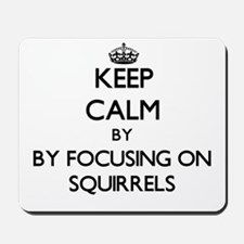 Keep calm by focusing on Squirrels Mousepad