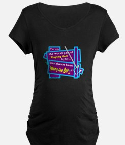 Hitting The Ball/Dave Barry Maternity T-Shirt