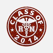 """Class Of 2014 RN 3.5"""" Button"""