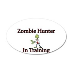Zombie Hunter in Training Wall Decal