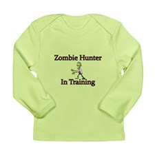 Zombie Hunter In Traini Long Sleeve Infant T-Shirt