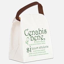 Cenabis Bene Canvas Lunch Bag
