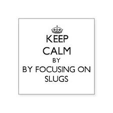 Keep calm by focusing on Slugs Sticker