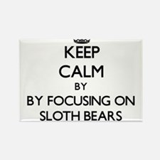 Keep calm by focusing on Sloth Bears Magnets