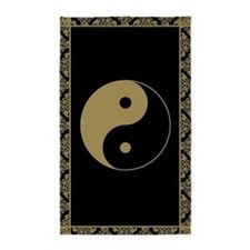 Gold Yin and Yang Symbol 3'x5' Area Rug