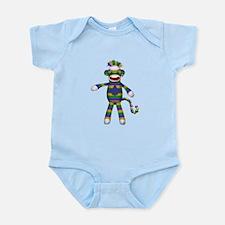 Mardi Gras Sock Monkey Body Suit