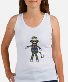 Mardi Gras Sock Monkey Tank Top