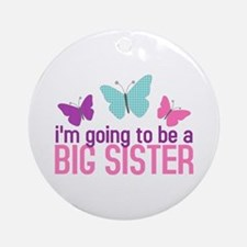 butterfly big sister to be Ornament (Round)