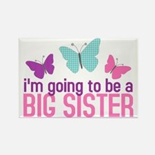 butterfly big sister to be Rectangle Magnet