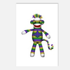 Mardi Gras Sock Monkey Postcards (Package of 8)
