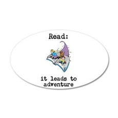 Read: It Leads to Adventure Wall Decal