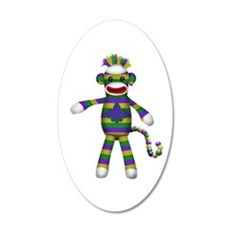 Mardi Gras Sock Monkey Wall Decal