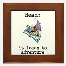 Read: It Leads to Adventure Framed Tile