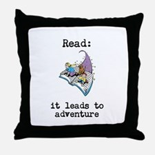 Read: It Leads to Adventure Throw Pillow