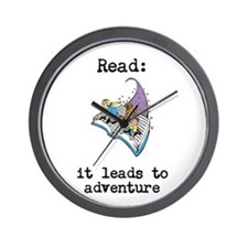 Read: It Leads to Adventure Wall Clock