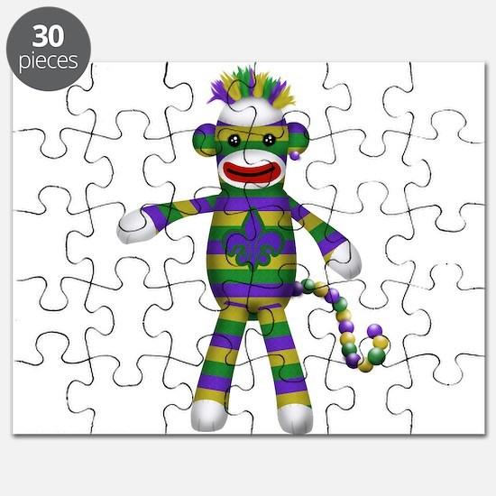 Mardi Gras Sock Monkey Puzzle
