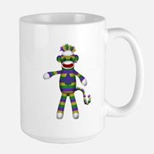 Mardi Gras Sock Monkey Mugs