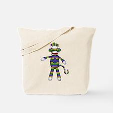 Mardi Gras Sock Monkey Tote Bag