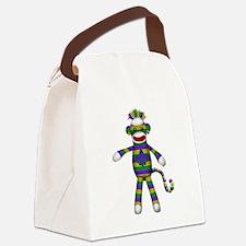 Mardi Gras Sock Monkey Canvas Lunch Bag