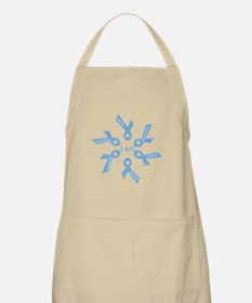 i am ... strong - light blue ribbons Apron