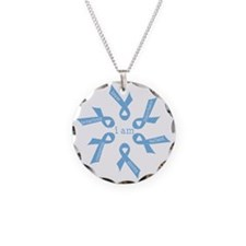 i am ... strong - light blue Necklace