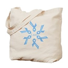 i am ... strong - light blue ribbons Tote Bag